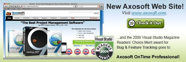 Check out the new Axosoft Web Site