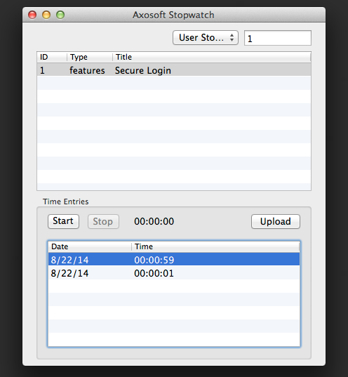 Axosoft Stopwatch for Mac